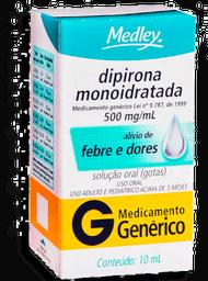 Dipirona Mono Medley Genérico Gotas 10 mL