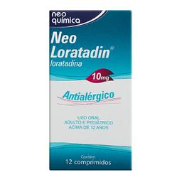 Neo Loratadin 10 mg Com 12 Comprimidos