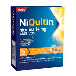 Niquitin 14 mg Adesivo Transparente com 7 Und