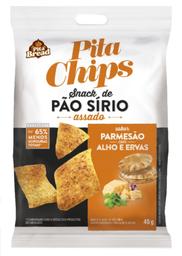 Snack Pão Sirio Pita Bread Parmesão/Alho/Ervas 45 g