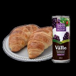 2 Croissants Franceses + Suco Del Valle - 11440