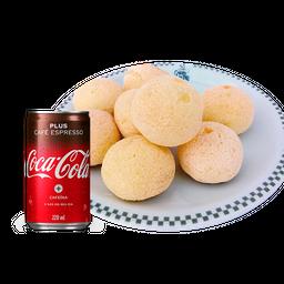 10 Pães de Queijo + Coca-Cola Café - 11408