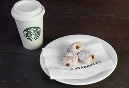 Café Latte Tall + Mini Donuts com Nutella (trio)