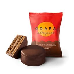 Alfajor Odara Doce De Leite E Chocolate Meio