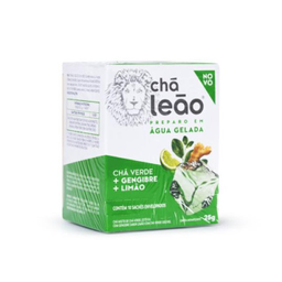 Chá Leão Gelado Verde Gengibre E Limão 25 g