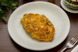 Omelete de Brócolis, Mussarela e Alho