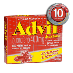 Advil 400 mg 8 Cápsulas