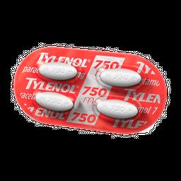 Tylenol 750Mg 3Cart C/ 200Cp