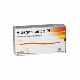 Vitamina Vitergan Zinco PL Com 30 Comprimidos
