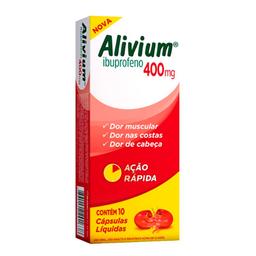 Alivium 400 mg Cápsulas Líquidas com 10 Und