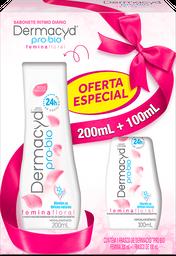 Kit Sabonete Íntimo Dermacyd Pro-Bio Floral