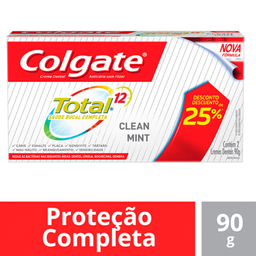 Kit Creme Dental Colgate Total 12 90 g 2 Und