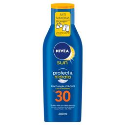 Protetor Solar 30 Fps Hidraração Nívea Protect & Hidrata 200 mL
