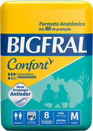 Fralda Geriátrica Bigfral Confort M 8 Und