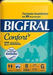 Fralda Geriátrica Bigfral Confort Tamanho G 8 Und
