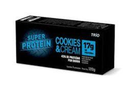 Barra Trio Super Proteína Cookies Cream 120 g