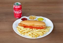 Brau Dog E Batatas Fritas E Coca-Cola - 350ml