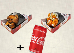 2 Temakis E Coca-Cola Original - 220ml
