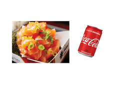 Temaki salmão + coca cola 220 ml grátis