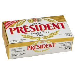 Manteiga President Pote Sem Sal 200 G