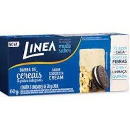 Barra Cereal Linea Sem Açúcar Cookies/Cream 60 g