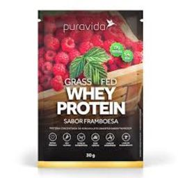 Proteína Puravida Whey Framboesa 30 g