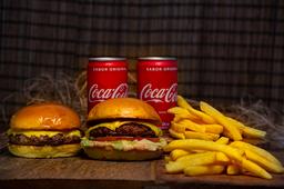 COMBO DUPLO  - 2x burgers, 2x batatas fritas e 2x Refri
