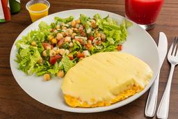 Omelete de Três Queijos