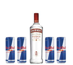 Combo Vodka Smirnoff + Energético Red Bull