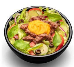 Salada Steack Cheddar Cremoso