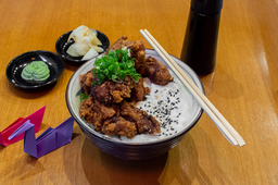 Karaage and Cheese Don