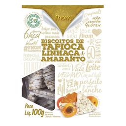 Biscoito De Tapioca Linhaça E Amaranto Fhom 100 g