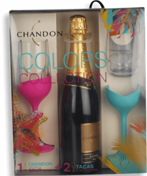 Kit Espumante Chandon Brut 750 mL Com 2 Taças