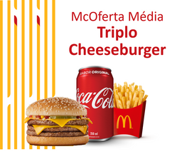 McOferta Média Triplo Cheeseburger