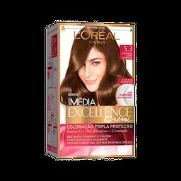 Coloração Imédia Excellence 5.3 Castanho Claro Dourado