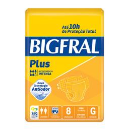 Fralda Bigfral Plus Grande Com 8 Und