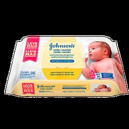 Toalha Umedecida Johnson Comprimidos Recém Nascido Com 96 Und