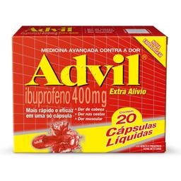 Advil Gel 400 Mg 20 Comprimidos