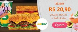 02 Sanduíches + 01 Refrigerante