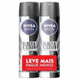 Desodorante Nivea Aerosol Inv Bla/Wht Fresh Men Lev/Pag 150 Ml
