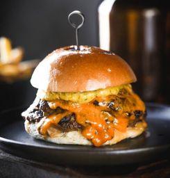 Smash cheese burger duplo