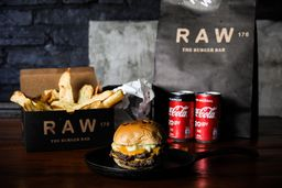 Combo Raw Cheese Burger