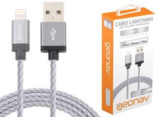 Cabo USB Lightning 1,5M Pta Geo - Cód.2021971