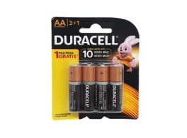 Pilha AA Alcalina Ct3+1 Prom.Duracell - Cód.2042260