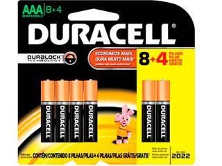Pilha AAA Alcalina L12P8 Duracell - Cód.2000976