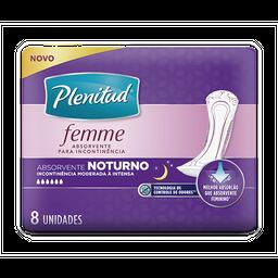 Absorvente Urinário Noturno Sem Abas Plenitud Femme 8 Und