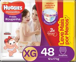 Fralda Roupinha Huggies Supreme Care Tam XG Pacote Hiper 48 Und