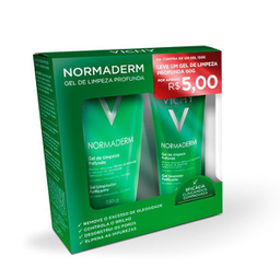 Kit Sab Facial Anti Acne Vichy Normaderm Gel + Gel 60 g 150 g