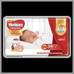 Fralda Huggies Supreme Care Rn 34 Fraldas