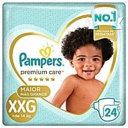 Fralda Pampers Premium Care Mega Xxg Com 24 Und